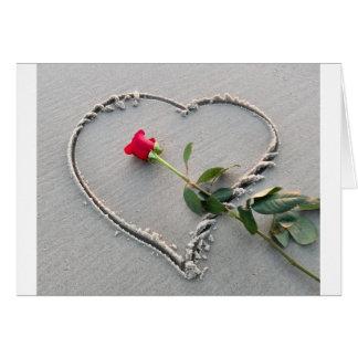 Beach Heart Valentine's Day Card