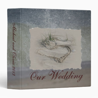 Beach Heart Wedding Binder
