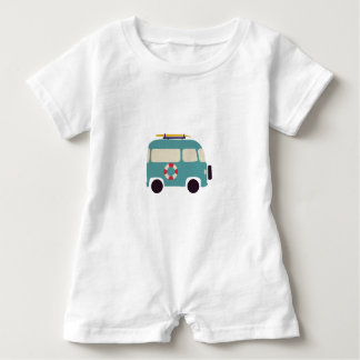 Beach here we come baby romper