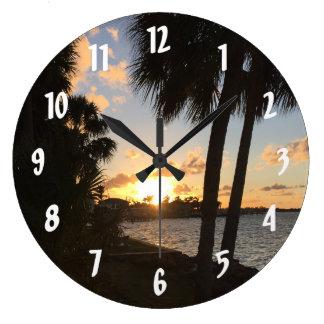 Beach Home Sweet Home Large Clock