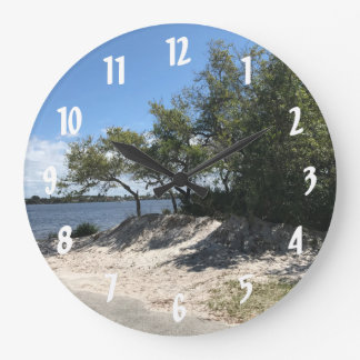 Beach Home Sweet Home Large Clock