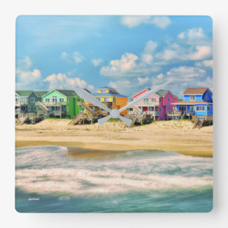 Beach Homes Wall Clock