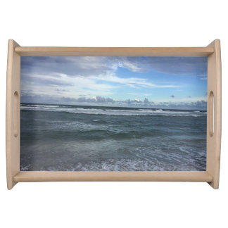 Beach Horizon From Shore To Sky Serving Tray