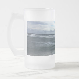 Beach Horizon Frosted Glass Beer Mug