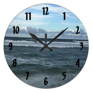 Beach Horizon Large Clock