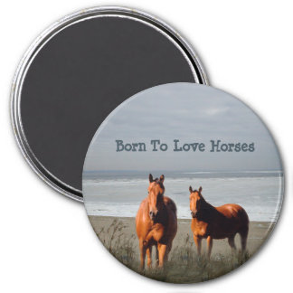 Beach Horses Magnet