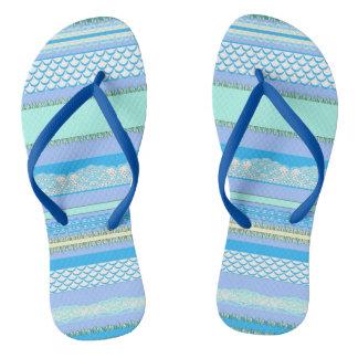 Beach House Blue surf Flip Flops