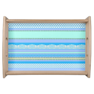 Beach House Blue surf Serving Tray
