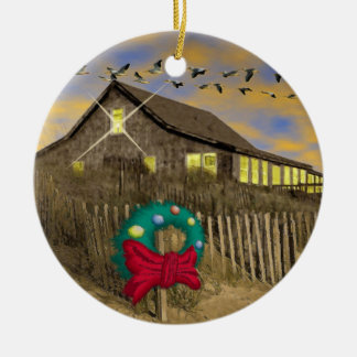 Beach House Christmas Ornament