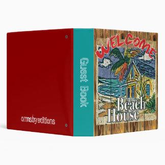 Beach House Guest Book binder