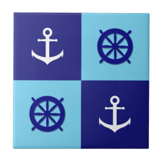 Beach House Nautical Anchor Tile