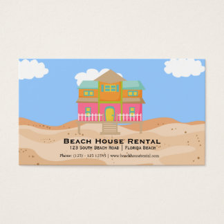 Beach House Rental Business Card