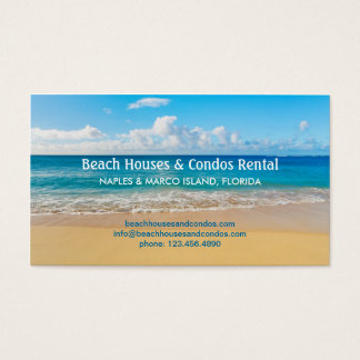 Beach House Rental Business Card