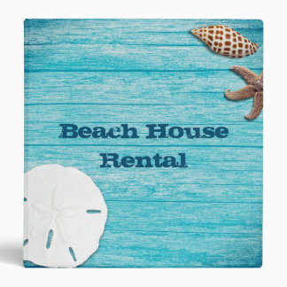 Beach House Rental Information Book 3 Ring Binders