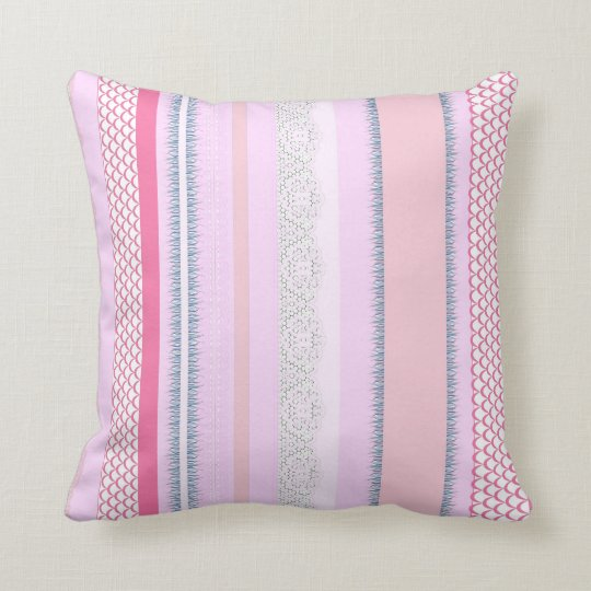 Beach House Rosy Morning Throw Pillow