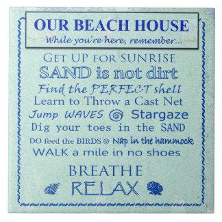 Beach House Rules Ceramic Tile