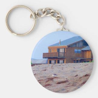 beach house sand sandpiper birds florida key chains