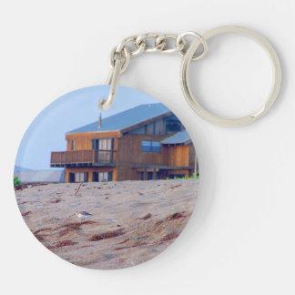 beach house sand sandpiper birds florida acrylic keychain