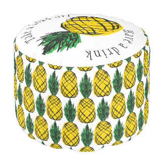 BEACH HOUSE TROPICAL PINEAPPLE POUF