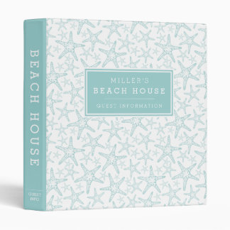 Beach House Vacation Rental Guest Information Vinyl Binder