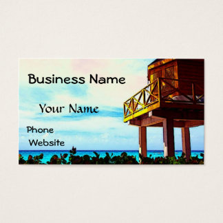 Beach House with Ocean View Business Card
