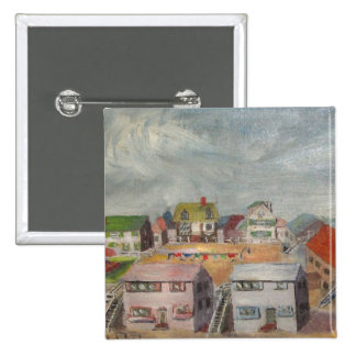 Beach Houses 2 Inch Square Button
