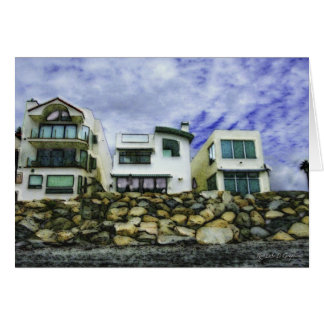 Beach Houses in Oceanside Card