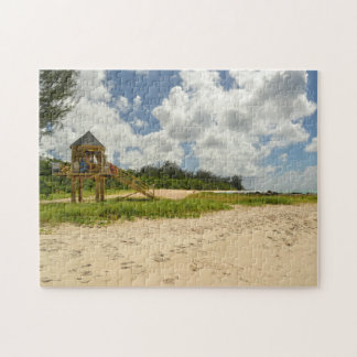 Beach Hut Barbados. Jigsaw Puzzle