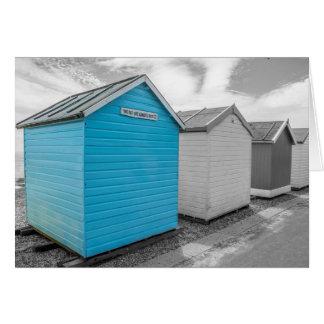 Beach Hut In Blue Card
