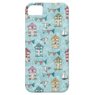 Beach Huts and Gulls Pattern iPhone 5 Cases
