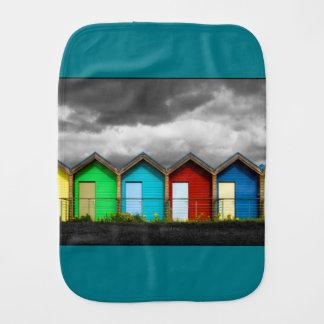 Beach Huts Burp Cloth