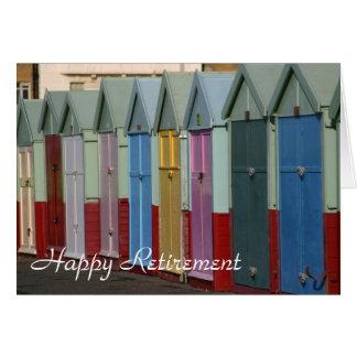 Beach huts retirement card