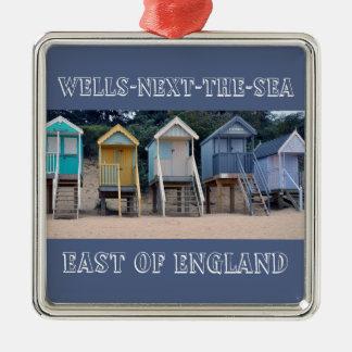 Beach Huts, Wells-next-the-Sea, Premium Ornament