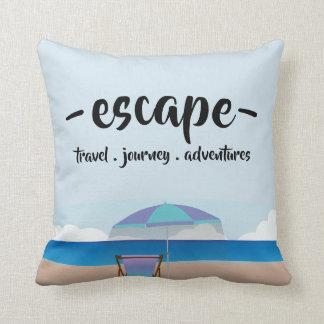 Beach illustration pillow