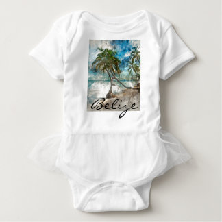 Beach in Ambergris Caye Belize Baby Bodysuit