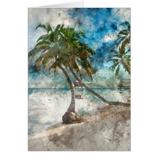 Beach in Ambergris Caye Belize Card