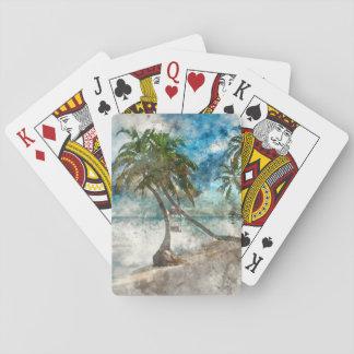 Beach in Ambergris Caye Belize Poker Deck