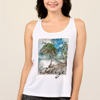 Beach in Ambergris Caye Belize Tank Top