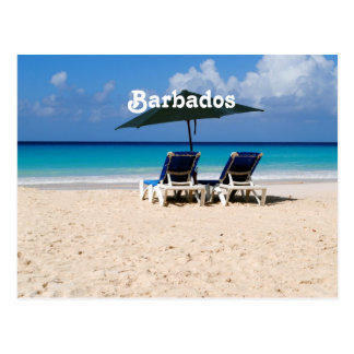 Beach in Barbados Postcard