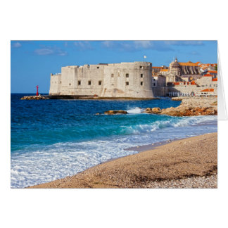 Beach in Dubrovnik Card