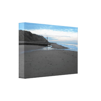 Beach in Mundesley, Norfolk by Alexandra Cook Canvas Print