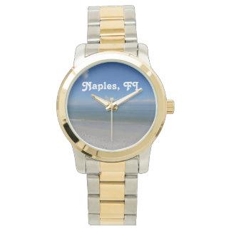 Beach in Naples Wrist Watches