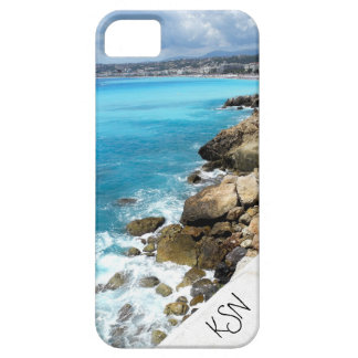 Beach in Nice, France iPhone 5 monogrammed case