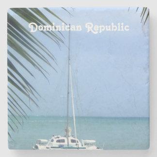 Beach in the Dominican Stone Coaster