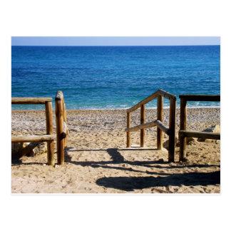 Beach in Villajoyosa, Alicante, Spain Postcard