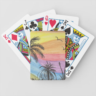 Beach Inspiration Bicycle Playing Cards