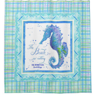 Beach is Calling Seahorse Ocean Decor Watercolor