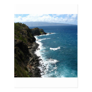 Beach Kapalua Coastline Postcard