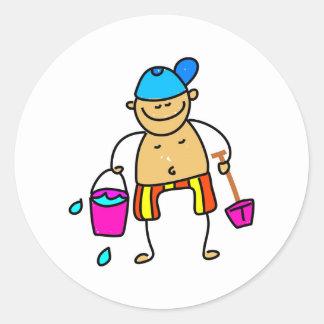 Beach Kid Round Sticker