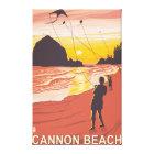 Beach & Kites - Cannon Beach, Oregon Canvas Print